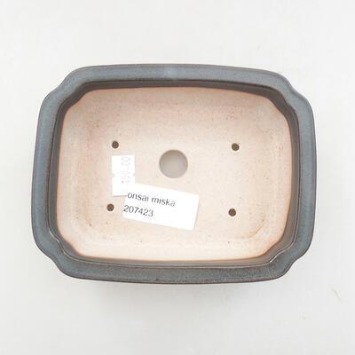 Ceramic bonsai bowl 13 x 10.5 x 4 cm, gray color - 3