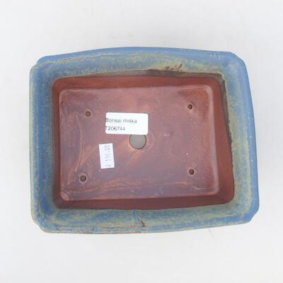 Ceramic bonsai bowl 18 x 14 x 7 cm, color blue - 3