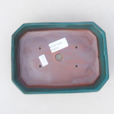 Ceramic bonsai bowl 18 x 13 x 4 cm, color green - 3
