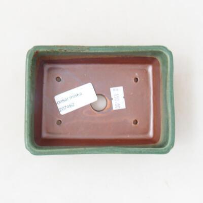 Ceramic bonsai bowl 12.5 x 9 x 4.5 cm, color green - 3
