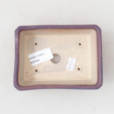 Ceramic bonsai bowl 12.5 x 9 x 4.5 cm, color purple - 3