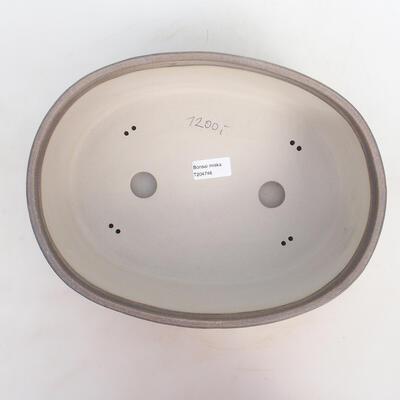 Bonsai bowl 31 x 24 x 10 cm, gray-beige color - 3