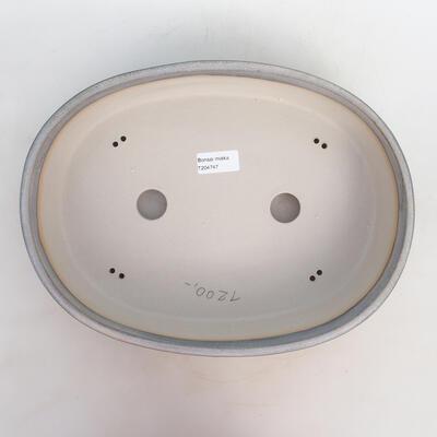 Bonsai bowl 33 x 25 x 7.5 cm, gray-beige color - 3