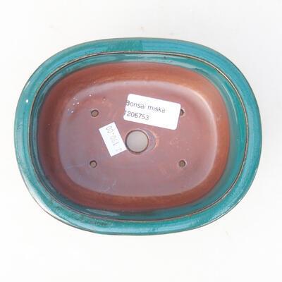 Ceramic bonsai bowl 14 x 11 x 5.5 cm, color green - 3
