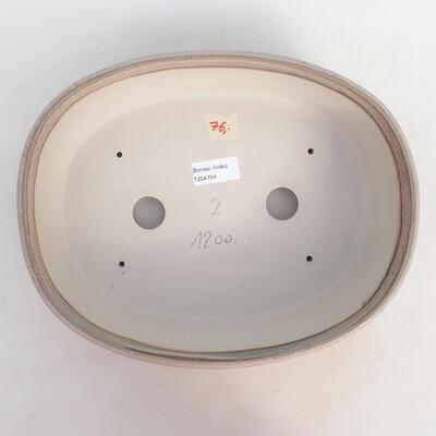 Bonsai bowl 29 x 23 x 8.5 cm, gray-beige color - 3