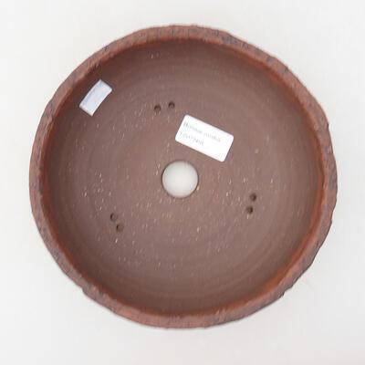 Ceramic bonsai bowl 18.5 x 18.5 x 7 cm, cracked color - 3