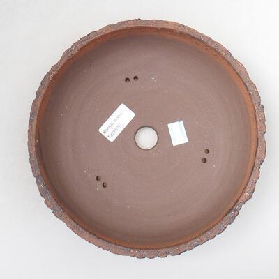Ceramic bonsai bowl 22 x 22 x 6 cm, color cracked - 3