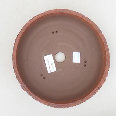 Ceramic bonsai bowl 19.5 x 19.5 x 6 cm, cracked color - 3