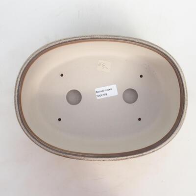 Bonsai bowl 27 x 20 x 9 cm, gray-beige color - 3