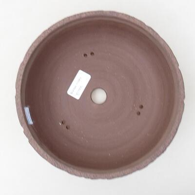 Ceramic bonsai bowl 21 x 21 x 7 cm, color cracked - 3
