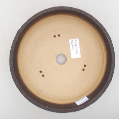 Ceramic bonsai bowl 18.5 x 18.5 x 6 cm, color cracked - 3