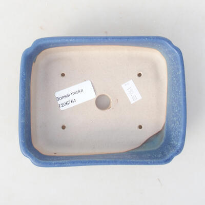 Ceramic bonsai bowl 15 x 11.5 x 4 cm, color blue - 3