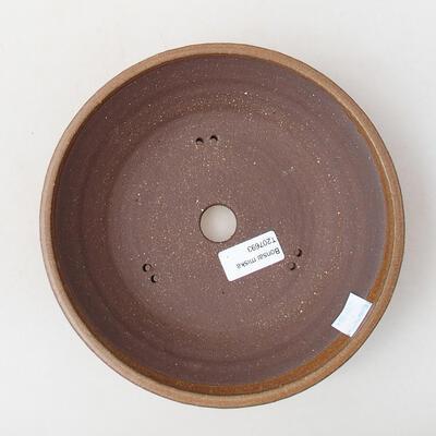 Ceramic bonsai bowl 21 x 21 x 5 cm, color brown - 3