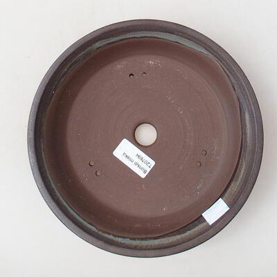 Ceramic bonsai bowl 21 x 21 x 4 cm, color brown - 3