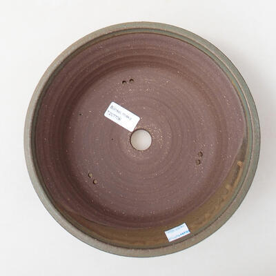 Ceramic bonsai bowl 24 x 24 x 7.5 cm, color blue - 3