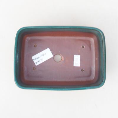 Ceramic bonsai bowl 15.5 x 10 x 4 cm, color green - 3