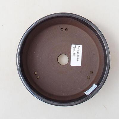 Ceramic bonsai bowl 15 x 15 x 4.5 cm, metal color - 3