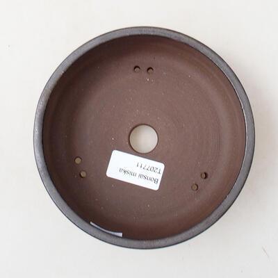 Ceramic bonsai bowl 14 x 14 x 4.5 cm, metal color - 3