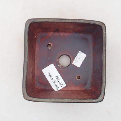 Ceramic bonsai bowl 10 x 10 x 7 cm, color brown-gray - 3