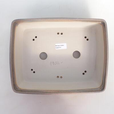 Bonsai bowl 30 x 23.5 x 9 cm, color beige-gray - 3