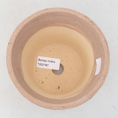 Ceramic bonsai bowl 13 x 13 x 13 cm, color cracked - 3