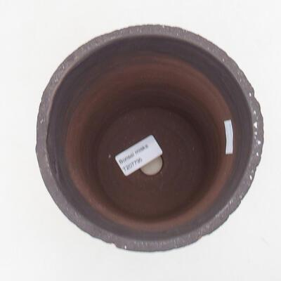 Ceramic bonsai bowl 14 x 14 x 17 cm, color cracked - 3