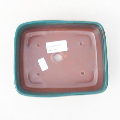 Ceramic bonsai bowl 15 x 12 x 4.5 cm, color green - 3