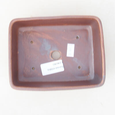 Ceramic bonsai bowl 14.5 x 11 x 5 cm, gray color - 3
