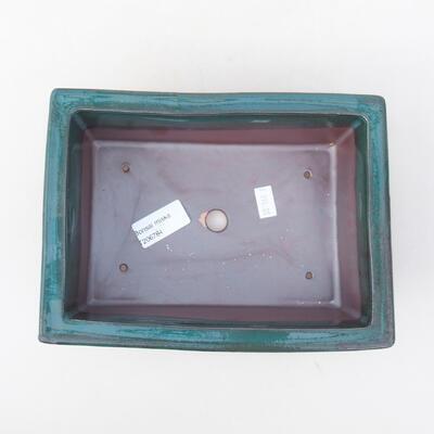 Ceramic bonsai bowl 20 x 14.5 x 7 cm, color green - 3