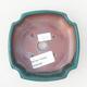 Ceramic bonsai bowl 12.5 x 10.5 x 3.5 cm, color green - 3/3