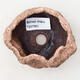 Ceramic shell 7 x 6 x 5.5 cm, color brown-pink - 3/3