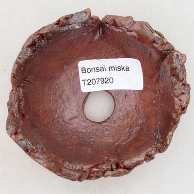 Ceramic shell 7.5 x 8 x 5.5 cm, gray-orange color - 3