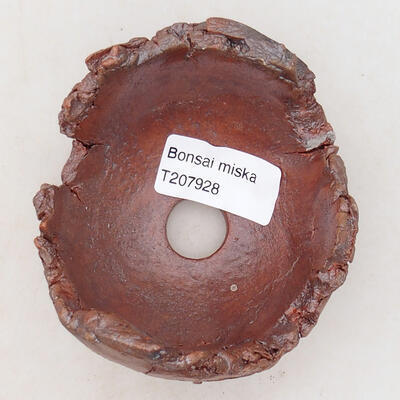 Ceramic shell 7.5 x 8 x 7 cm, gray-brown - 3