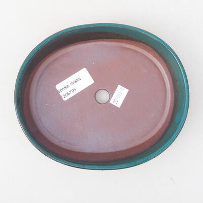 Ceramic bonsai bowl 17 x 14 x 3.5 cm, color green - 3