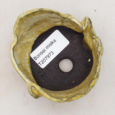 Ceramic shell 7.5 x 7 x 5 cm, color yellow - 3