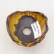 Ceramic shell 7.5 x 7 x 5.5 cm, yellow color - 3/3