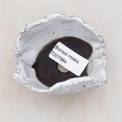 Ceramic shell 7.5 x 6 x 5 cm, white color - 3