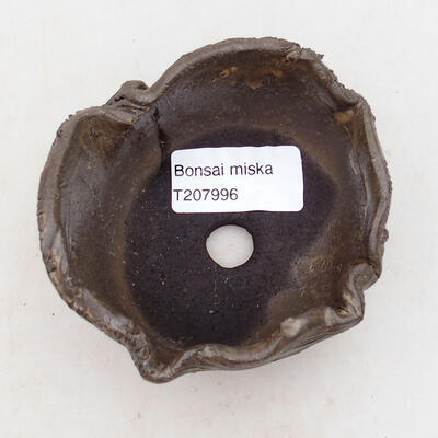Ceramic shell 7.5 x 7 x 5 cm, brown color - 3
