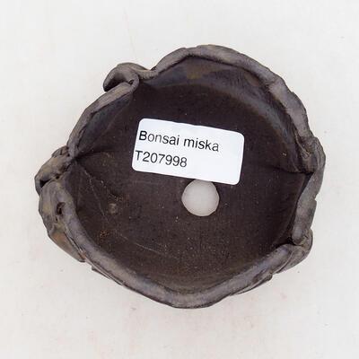Ceramic shell 7 x 6.5 x 5.5 cm, brown color - 3