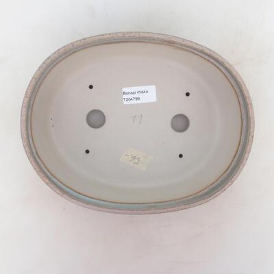 Bonsai bowl 24 x 19 x 7 cm, gray-beige color - 3