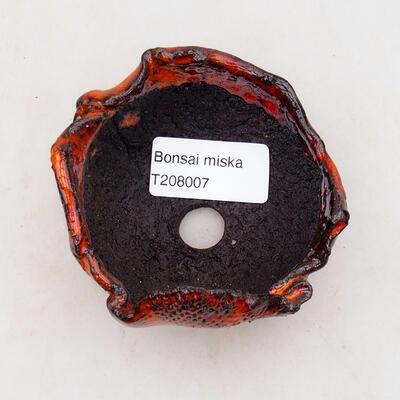 Ceramic shell 7.5 x 6.5 x 5 cm, color orange - 3