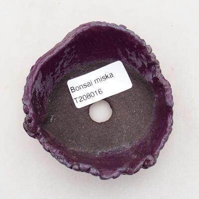 Ceramic shell 7.5 x 8 x 4 cm, color purple - 3