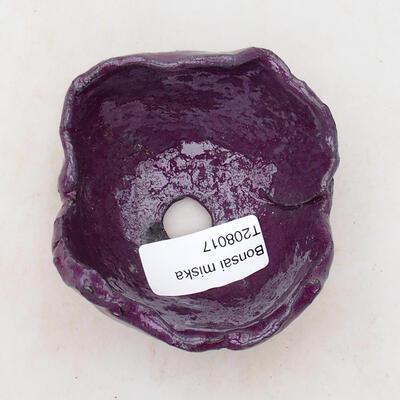 Ceramic shell 7 x 8 x 5 cm, color purple - 3