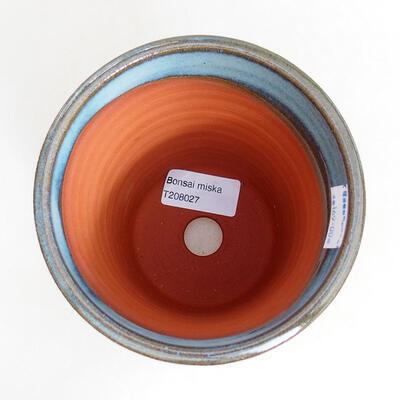 Ceramic bonsai bowl 10.5 x 10.5 x 13.5 cm, color blue - 3