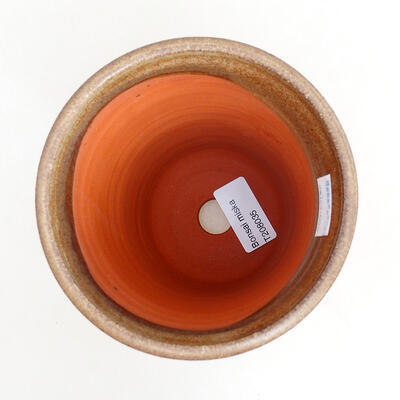 Ceramic bonsai bowl 10.5 x 10.5 x 14 cm, brown color - 3