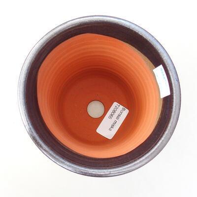 Ceramic bonsai bowl 10.5 x 10.5 x 14 cm, metal color - 3