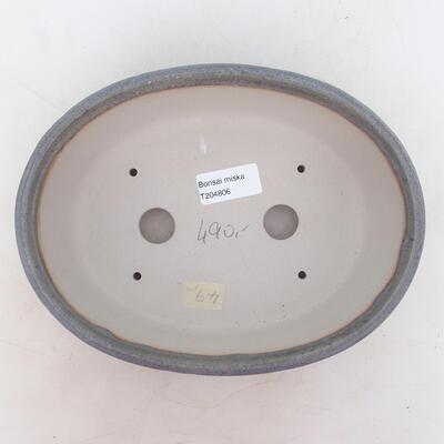 Bonsai bowl 22.5 x 17.5 x 7 cm, gray color - 3