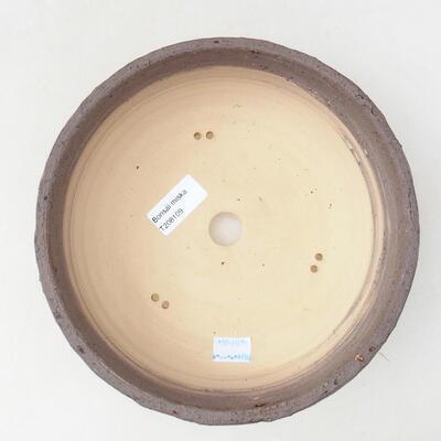 Ceramic bonsai bowl 21.5 x 21.5 x 7 cm, color crack yellow - 3