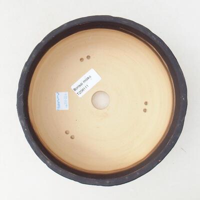 Ceramic bonsai bowl 19 x 19 x 7 cm, color crack yellow - 3