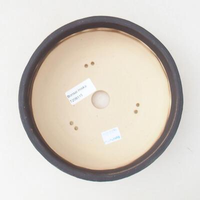 Ceramic bonsai bowl 19 x 19 x 6 cm, color crack yellow - 3